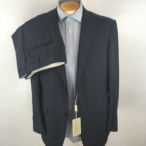 Canali mens suit blue stripes 40r italy NWT ea0350